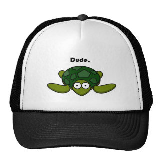 Groovy Turtle Dude Cartoon Trucker Hat