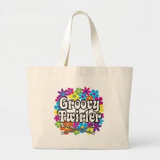 Groovy Twirler Tote Bags