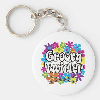 Groovy Twirler Keychain