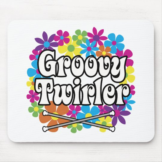 Groovy Twirler Mouse Pad