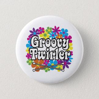 Groovy Twirler Pinback Button