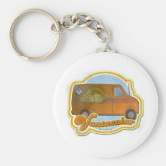 Groovy Vantacular Seventies Van Basic Round Button Keychain