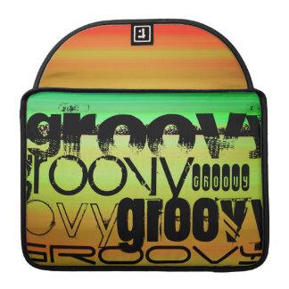 Groovy; Vibrant Green, Orange, & Yellow Sleeve For MacBook Pro