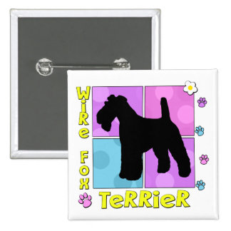 Groovy Wire Fox Terrier Pin