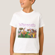 Groovy Wisconsin Cows T-Shirt