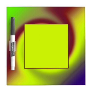 Groovy Yellow Brown Swirl Abstract Dry-Erase Board