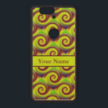 """Groovy Yellow Brown Swirl Abstract Pattern Wood Nexus 6P Case<br><div class=""""desc"""">Fun groovy and mod ! Yellow and brown swirl circular design. Colorful abstract art to brighten up any occasion. This design makes a perfect gift for any artistic person. 1960s inspired artwork. Awesome bold design. Personalize with your own message,  name or text.</div>"""