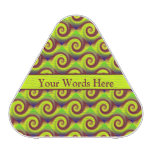 Groovy Yellow Brown Swirl Abstract Speaker
