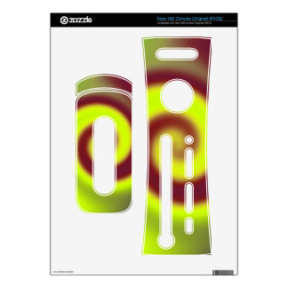 Groovy Yellow Brown Swirl Abstract Xbox 360 Console Decals