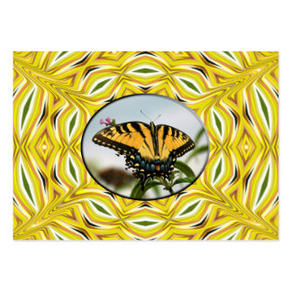 Groovy Yellow Butterfly ~ ATC Business Card Templa