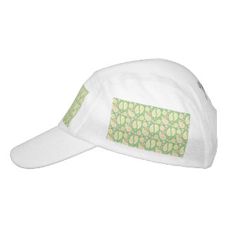 Groovy Yellow Paisley on Spring Green Hat