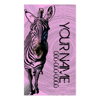 groovy zebra lifestyle personal businesscard Double-Sided standard business cards (Pack of 100)