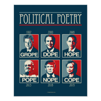 Grope Dope Hope Pope Nope Cope Poster