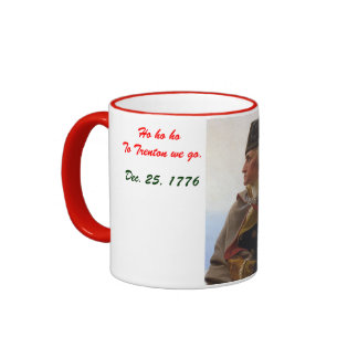 Grorge Washington Christmas Ringer Coffee Mug