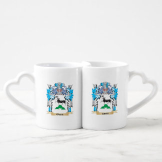 Gros Coat of Arms - Family Crest Couple Mugs