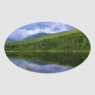 Gros Morne Reflections Oval Sticker