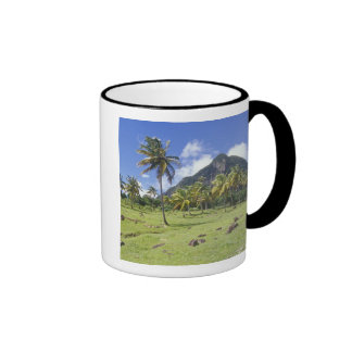 Gros Piton view along the historic trail in Ringer Coffee Mug