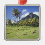 Gros Piton view along the historic trail in Christmas Tree Ornament