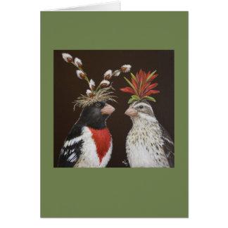 Grosbeak wedding #2 card