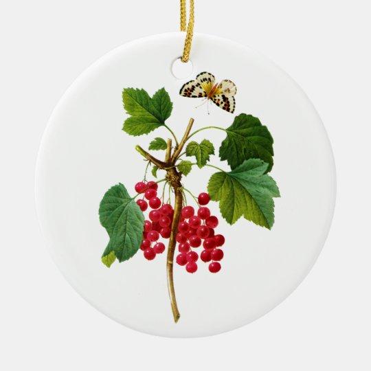 Groseillier Rouge by Pierre Joseph Redoute Ceramic Ornament