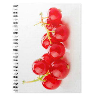 Grosellas color rojo intenso spiral notebook