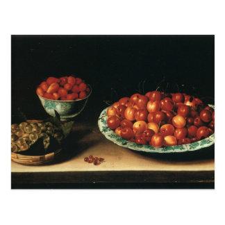 Grosellas espinosas de las fresas de las cerezas d postales
