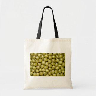 Grosellas espinosas verdes únicas bolsa de mano