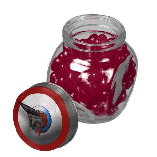Gross Arrow In The Eye Bloody Eyeball Halloween Glass Jars