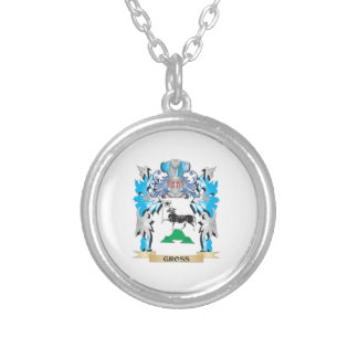Gross Coat of Arms - Family Crest Round Pendant Necklace