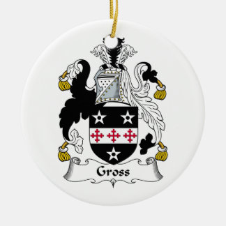Gross Family Crest Double-Sided Ceramic Round Christmas Ornament