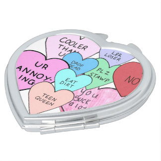 Gross Hearts Mirror For Makeup
