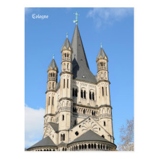 Gross St. Martin in Cologne, Germany Postcard