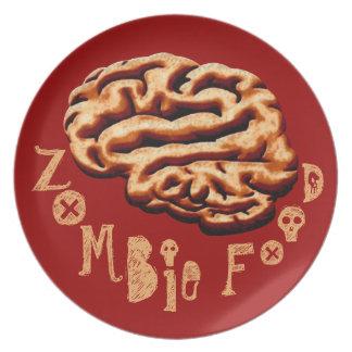 Gross Zombie Food Halloween Party Brains Dinner Plate