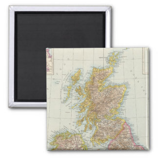 Grossbritannien, Irland - Map of UK, Ireland 2 Inch Square Magnet