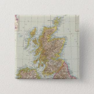 Grossbritannien, Irland - Map of UK, Ireland Button