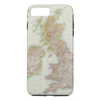 Grossbritannien, Irland - Map of UK, Ireland iPhone 7 Plus Case