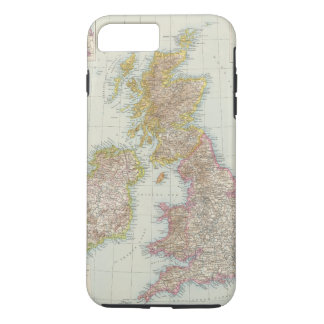 Grossbritannien, Irland - Map of UK, Ireland iPhone 8 Plus/7 Plus Case