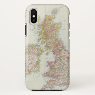 Grossbritannien, Irland - Map of UK, Ireland iPhone X Case