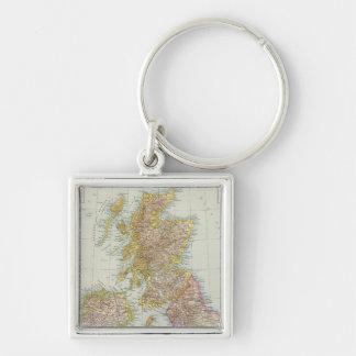 Grossbritannien, Irland - Map of UK, Ireland Keychain