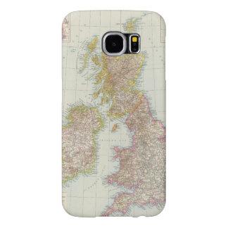 Grossbritannien, Irland - Map of UK, Ireland Samsung Galaxy S6 Case