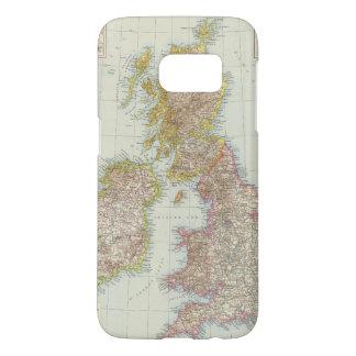 Grossbritannien, Irland - Map of UK, Ireland Samsung Galaxy S7 Case
