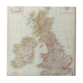 Grossbritannien, Irland - mapa de Reino Unido, Azulejo Cuadrado Pequeño
