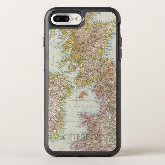 Grossbritannien, Irland - mapa de Reino Unido, Funda OtterBox Symmetry Para iPhone 7 Plus
