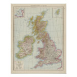 Grossbritannien, Irland - mapa de Reino Unido, Irl Impresiones