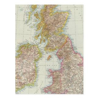 Grossbritannien, Irland - mapa de Reino Unido, Irl Postal