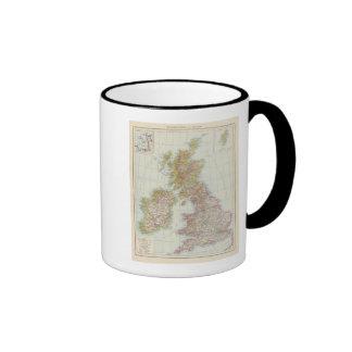 Grossbritannien, Irland - mapa de Reino Unido, Taza De Dos Colores