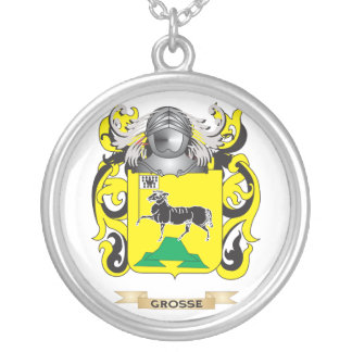 Grosse Coat of Arms (Family Crest) Round Pendant Necklace
