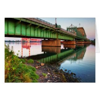 Grosse Ile Parkway Bridge Sunrise Card