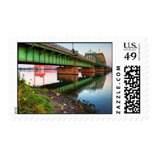 Grosse Ile Parkway Bridge Sunrise Postage Stamps