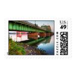 Grosse Ile Parkway Bridge Sunrise Postage Stamp